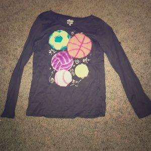 Sport ball long sleeve shirt